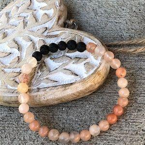 Jewelry - 🆕🆕🆕✨RED NEPHRITE +LAVA DIFFUSER BRACELET 6mm✨